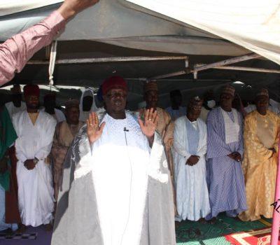 Mafa L.G. Secretary, Mohammed Lawan Sheriff has Joined Muslim Faithful Performed Two Raka'at Prayer to Mark Eid Kabir Sallah Celebration at the Mafa Town Eid Ground